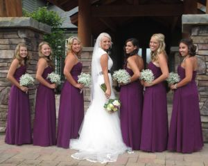 RockingKRanchGallery BrideAndHerMaidsInPurple